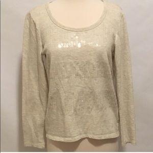Forever 21 Cream Iridescent Sequin Sweatshirt